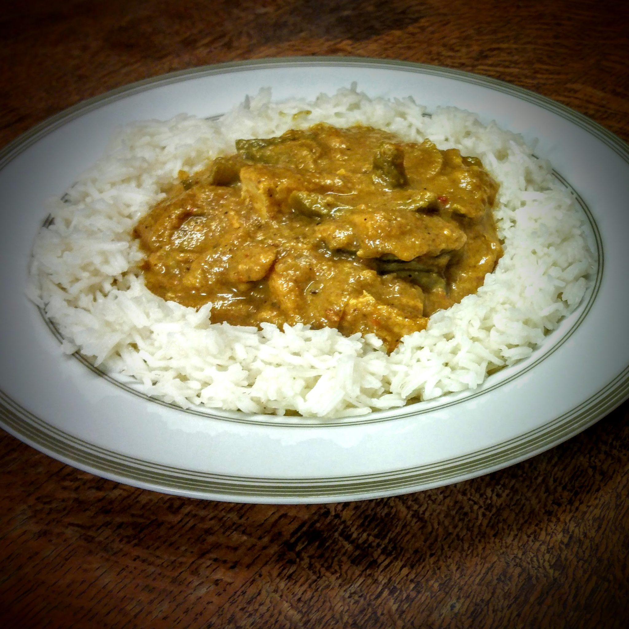 An after Christmas Curry made completely from leftovers.